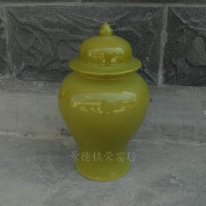WRYNQ29 dark green ceramic ginger jar