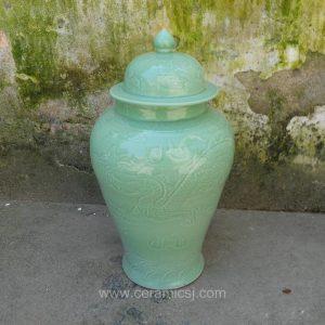 WRYMA52 green ceramic jar