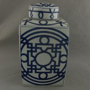 RYTM02 Blue and white Porcelain Square Jar