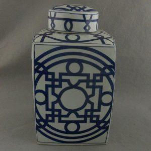 RYTM02 Blue and white Porcelain Square Jar