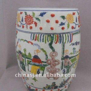 Antique Ceramic Garden Stool hand paint Chinese Ancient beauty WRYPL02