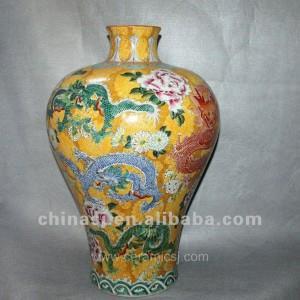 Antique hand painted Porcelain flower Vase RYUY03