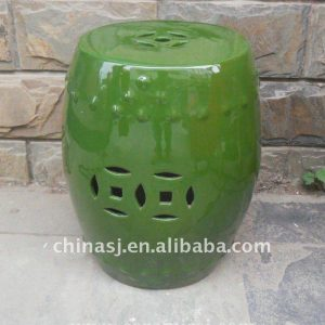 Green drum porcelain Garden Stool WRYIR83