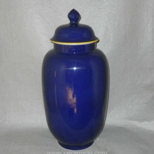 Indigo ceramic ginger jar WRYKB89