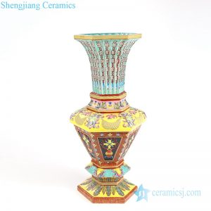 RYLW11 Antique chinese ceramic flower vase