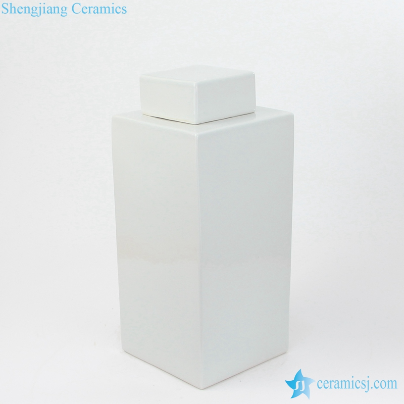 WRYSM01 white square porcelain jar