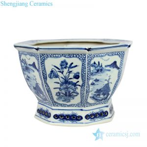 RYSZ01-OLD Qing dynasty antique ceramic flower pot