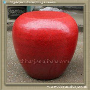 RYTH17 red ceramic garden stool seat