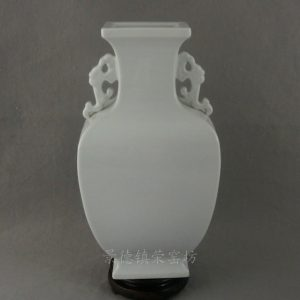 blanc de chine square vase with handles RYTY03