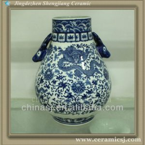 RYUJ15 chinese cheap porcelain dragon vase wholesale