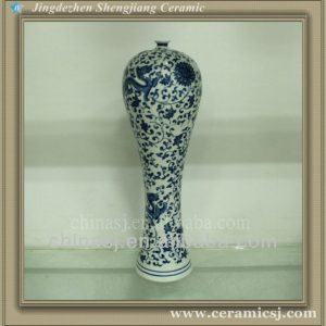 RYUJ16 oriental blue and white flower cheap vase