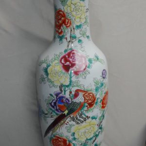 Famille rose Flower design Large Chinese Floor Vase WRYUL05