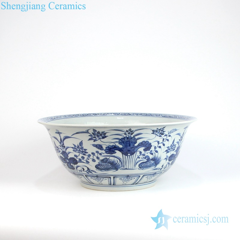 mandarin duck porcelain large bowl