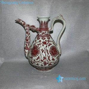 RYVK07 Copper Red Flower Pitcher