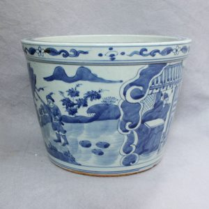 "RYVW05 10"" blue and white ceramic flower pot wholesale"