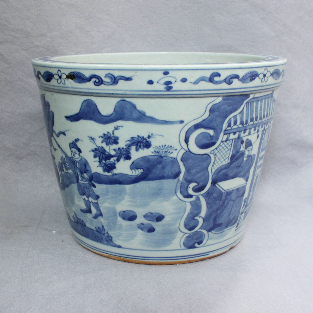 Ryvw05 10 Blue And White Ceramic Flower Pot Wholesale