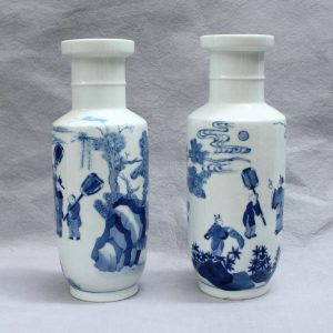 RYVX02 jingdezhen blue and white painted porcelain vase