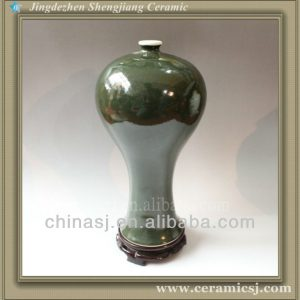 RYVZ05 Chinese jingdzhen green ceramic flower mini vase
