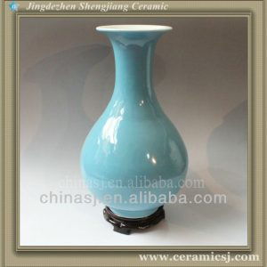 RYVZ08 Mini blue ceramic bud vase