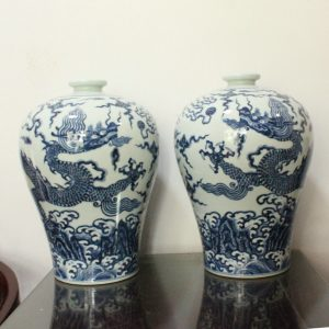 WRYWB04 Antique Ming Dynasty Dragon Vase