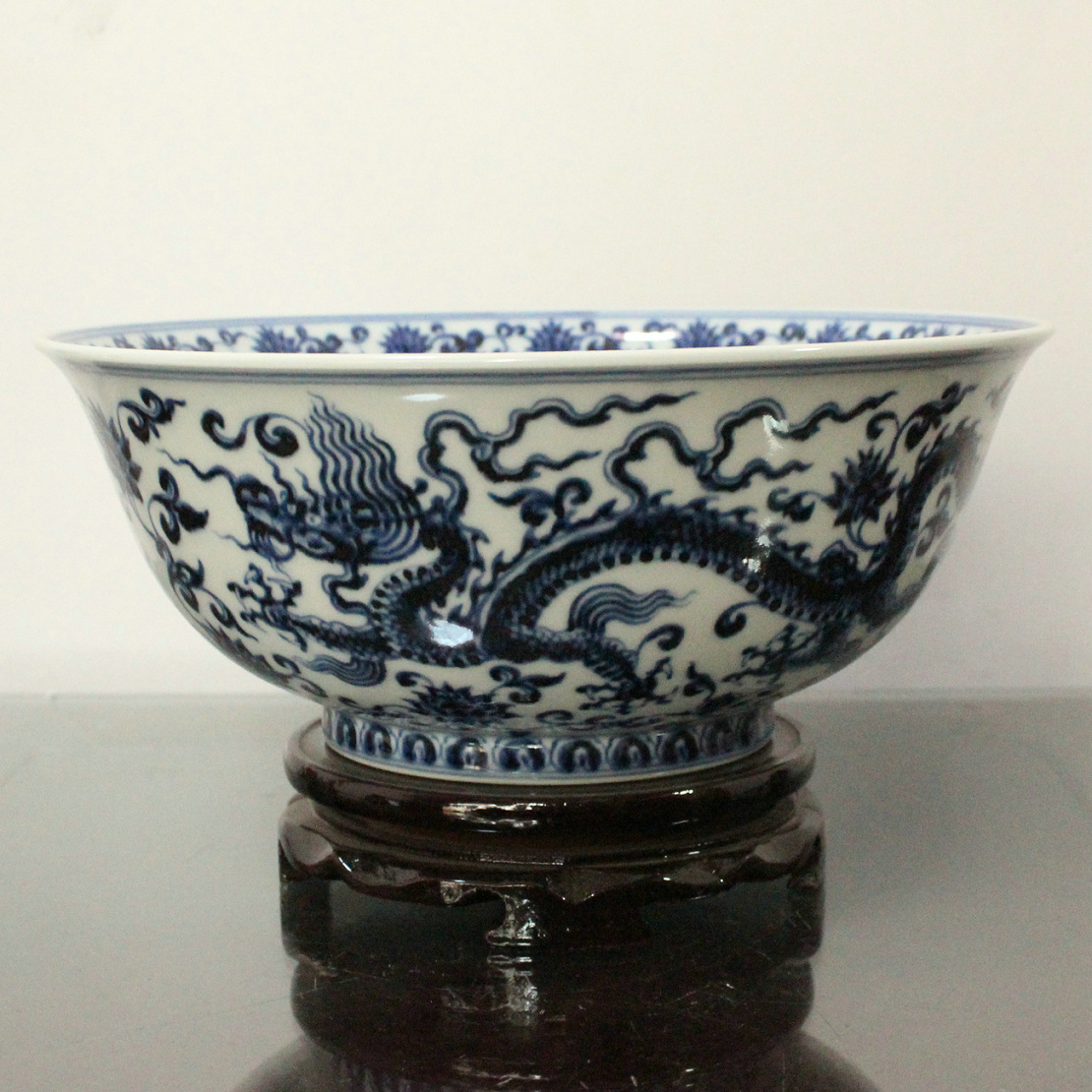 Rywb09 Ming Dynasty Reproduction Blue And White Dragon