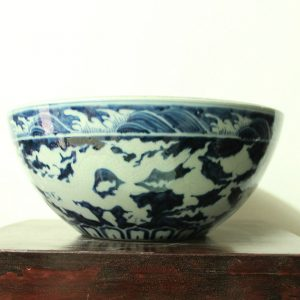 RYWC05 Antique Blue And White Oriental Ceramic Flower Pot