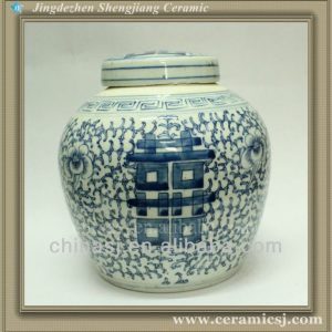 Double happiness Ceramic Jar Vase