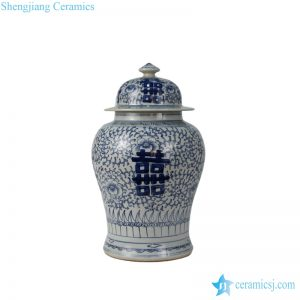 RYWD07/22 double happiness decorative wholesale ceramic jar
