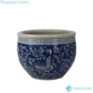 RYWD13 oriental blue and white flower pot