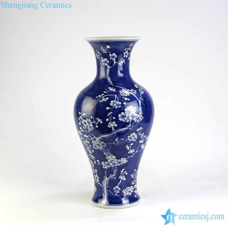 dark blue ceramic vase