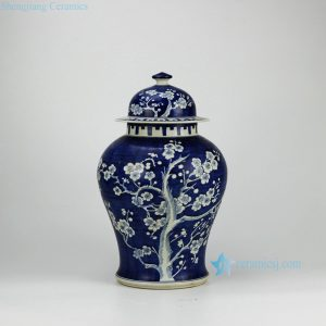 RYWG01 Blue and White Plum Blossom Ceramic Containers Jars