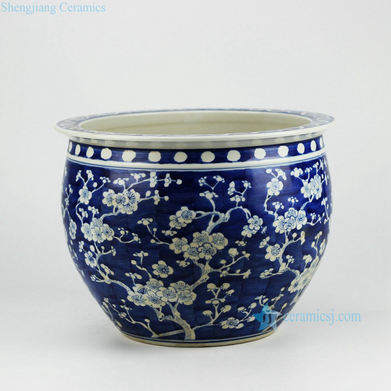 Sakura ceramic planter