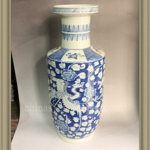RYWG08 large blue and white ceramic vase wholesale