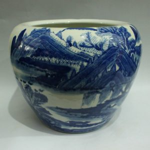 RYWI02 blue and white chinese flower pot