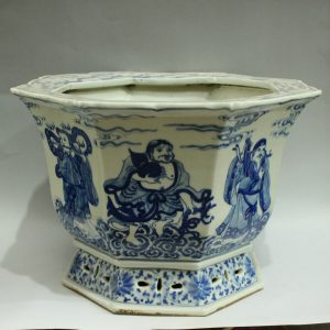 RYWI05 blue and white antique ceramic flower pot