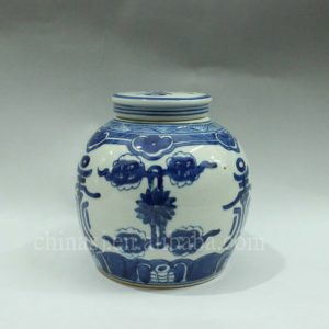 "RYWK07 6.3"" blue and white ceramic small Tea Jar"