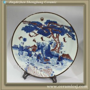 RYWU05 antique decorative ceramic enamel plate