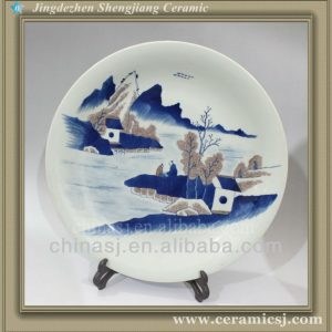 RYWU07 porcelain and ceramic hand painted plate