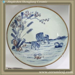 RYWU08 porcelain and ceramic hand painted plate