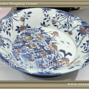 RYWU17 jingdezhen porcelain wall decorative plate