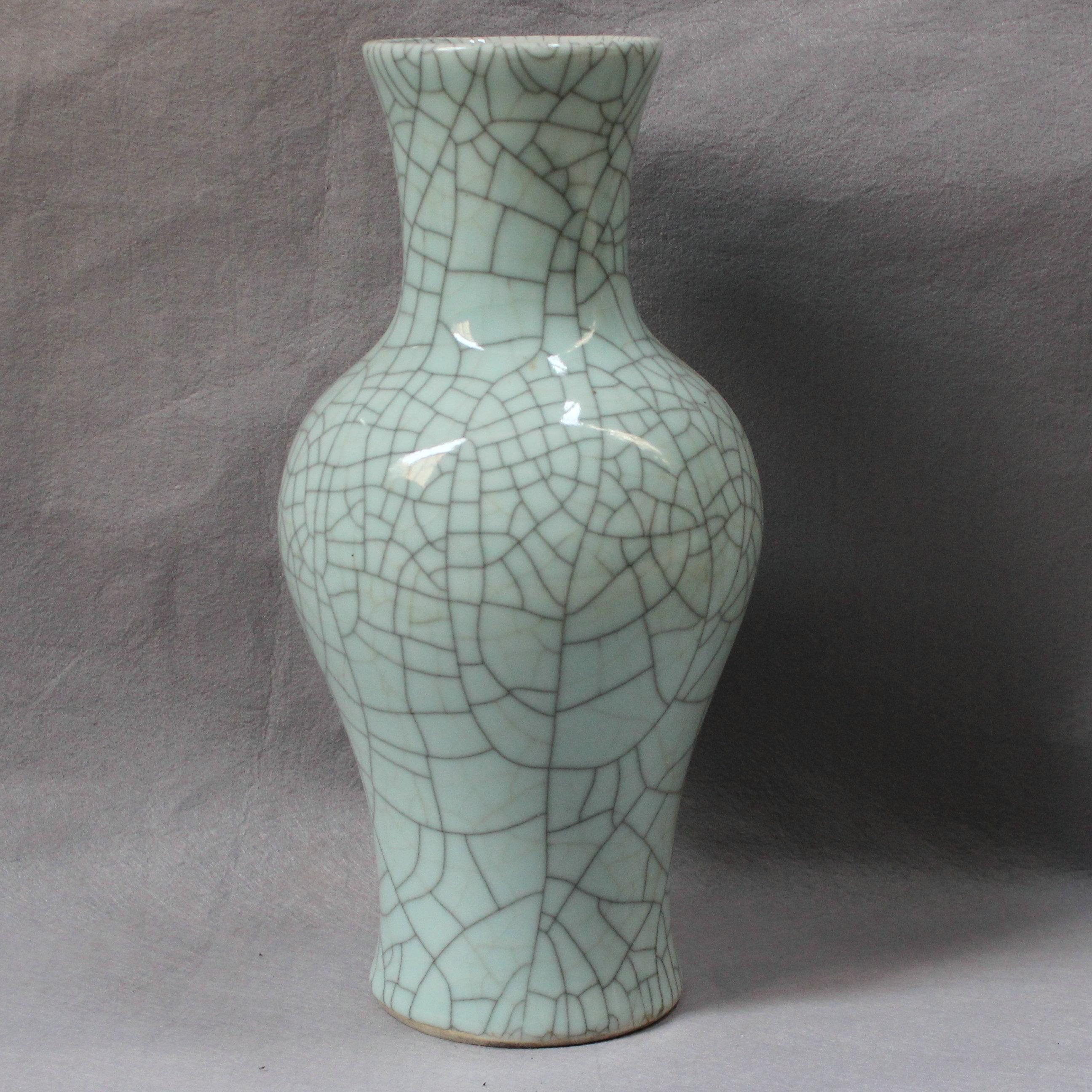 Ryxc03 Chinese Porcelain Crackle Vase Jingdezhen