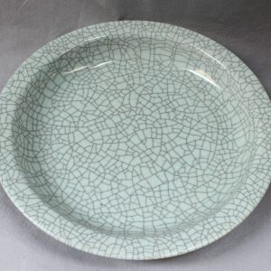 "RYXC10 15.7"" Antique Porcelain Crackle Plate"