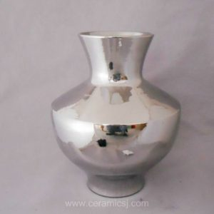 Small Bright Silver Plated Vase WRYKB78