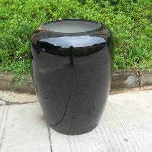 WRYIR75 19.5 inch Black Ceramic Pot Vase