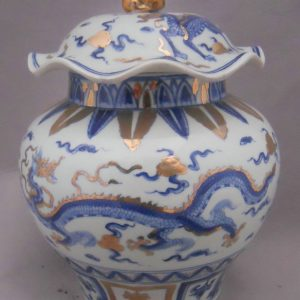 WRYPJ10 antique Blue and white dragon porcelain jar