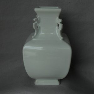 blanc de chine square vase with handles WRYTK06