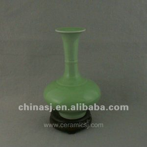 antique green glaze porcelain vase with long neck WRYDM03