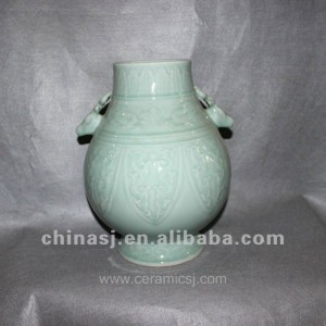 RYVE02 beautiful hand made celadon ceramic jar