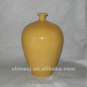 beautiful hand made yellow glaze ceramic Vase WRYKB100