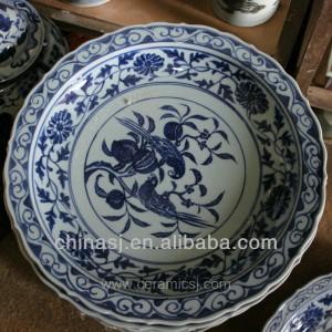 big blue white Porcelain Plate for appreciate RYVH16